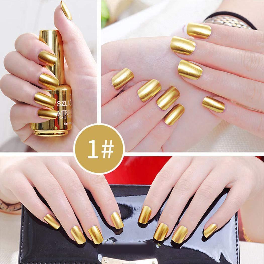 Gfone Vernis à ongles permanent durable professionnel de vernis à ongles d\'effet de miroir Vernis à ongles