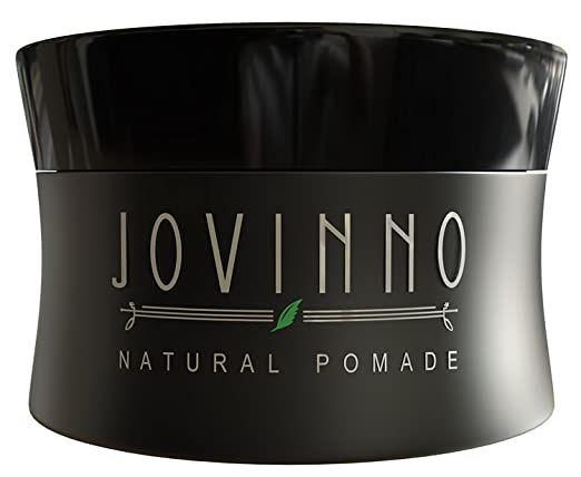 Jovinno Premium Hair Styling Pomade / Hair Wax - Medium to Strong Hold Clear Thick Formula Non-Greasy Water Soluble. Made in France. 5oz
