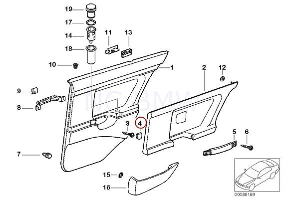 Amazon Com Bmw Genuine Cap Door Lining Automotive
