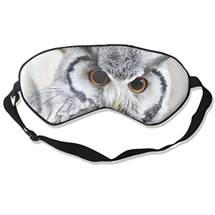 HEHE TAN Cute Búho máscara de Seda máscara de Dormir máscara de Ojo Sombra Dormir gossles