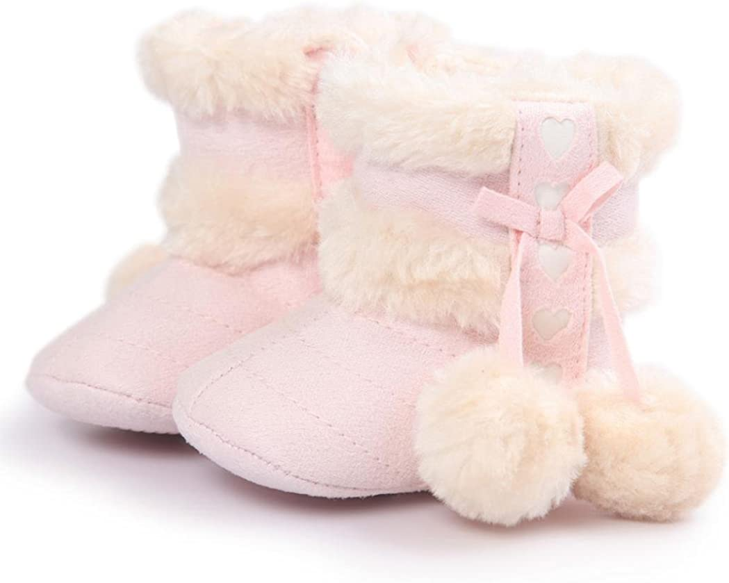 Fabal Baby Soft Sole Snow Boots Soft Crib Shoes Toddler Boots