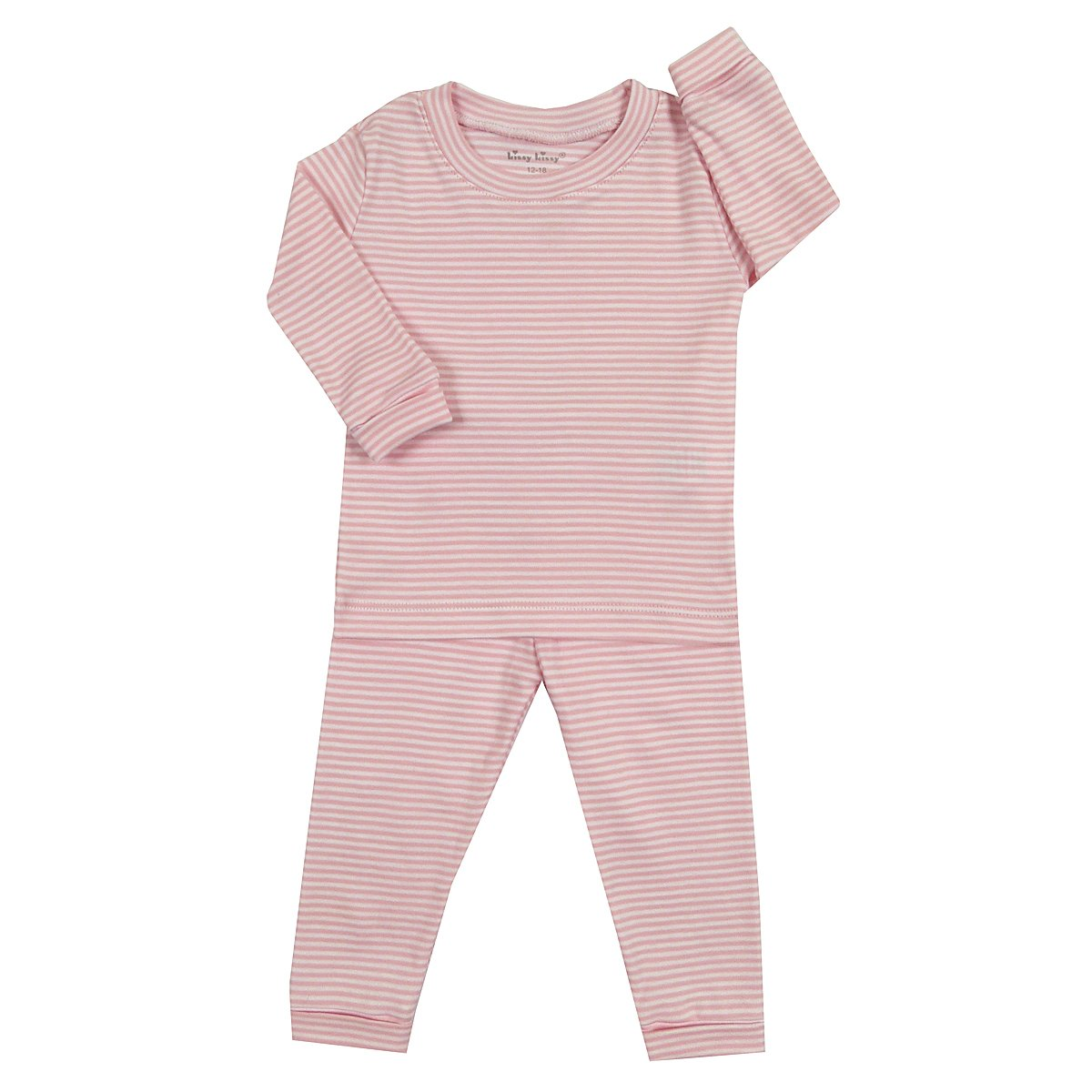 Kissy Kissy Baby Girls Pajamas Year Round Stripe Pink