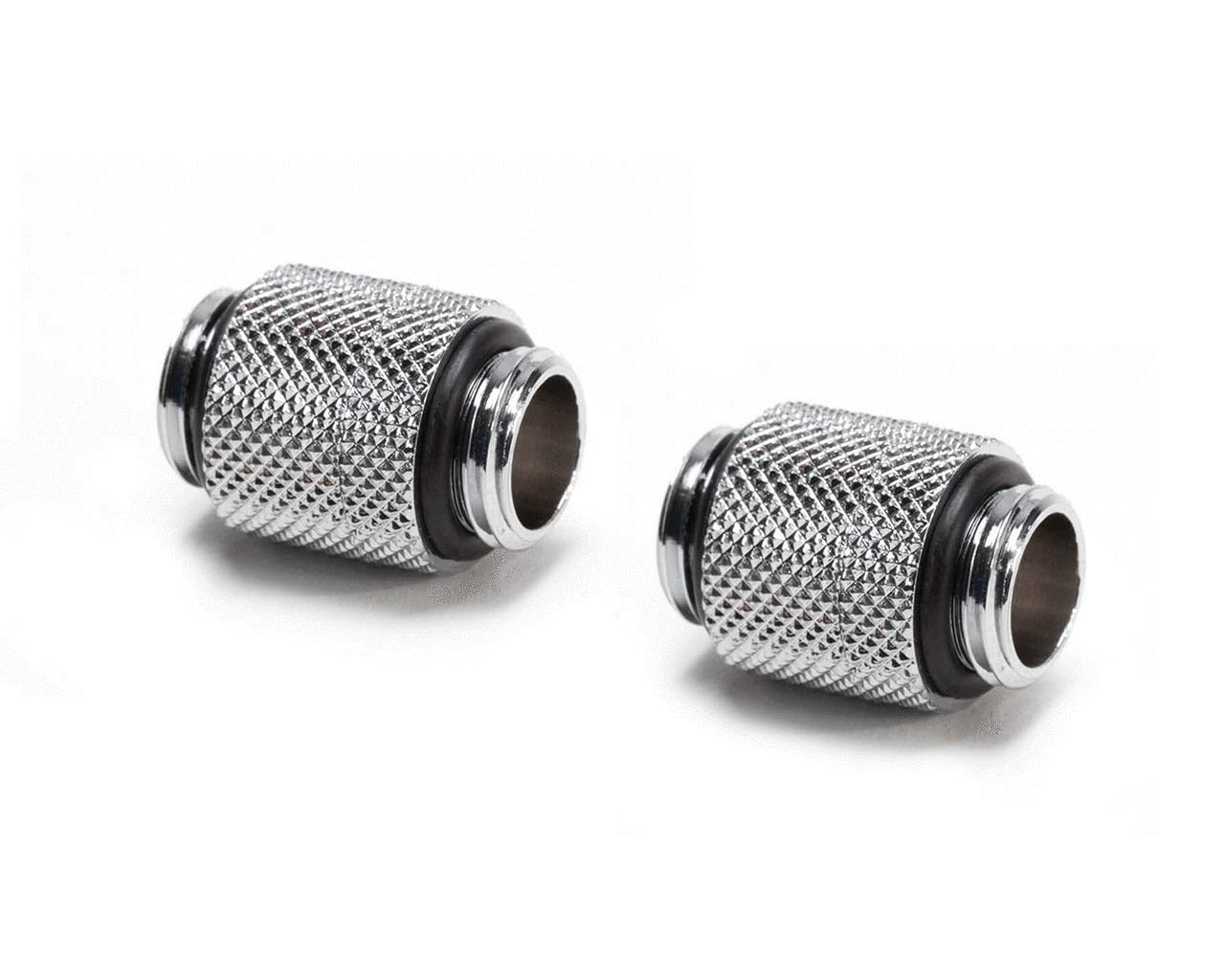 Nickel Silver 4 Pack PrimoChill Male to Female G1//4 90 Degree Rotary Elbow Fitting