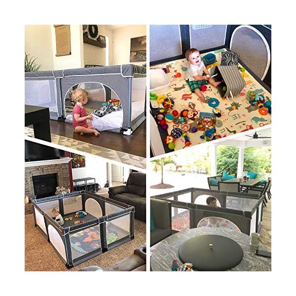 Box per bambini, box XL, centro di attività per bambini, interno ed esterno, con base antiscivolo, griglia di protezione… 6 spesavip