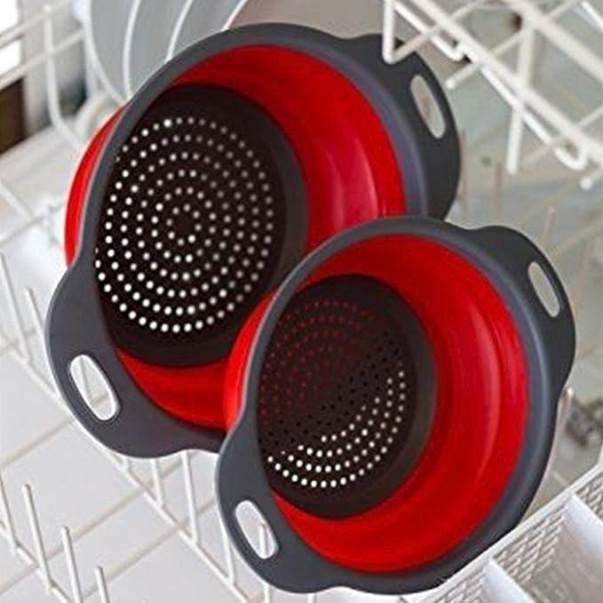 Compra Virklyee Colador de cocina plegable, 2 piezas de filtro de ...