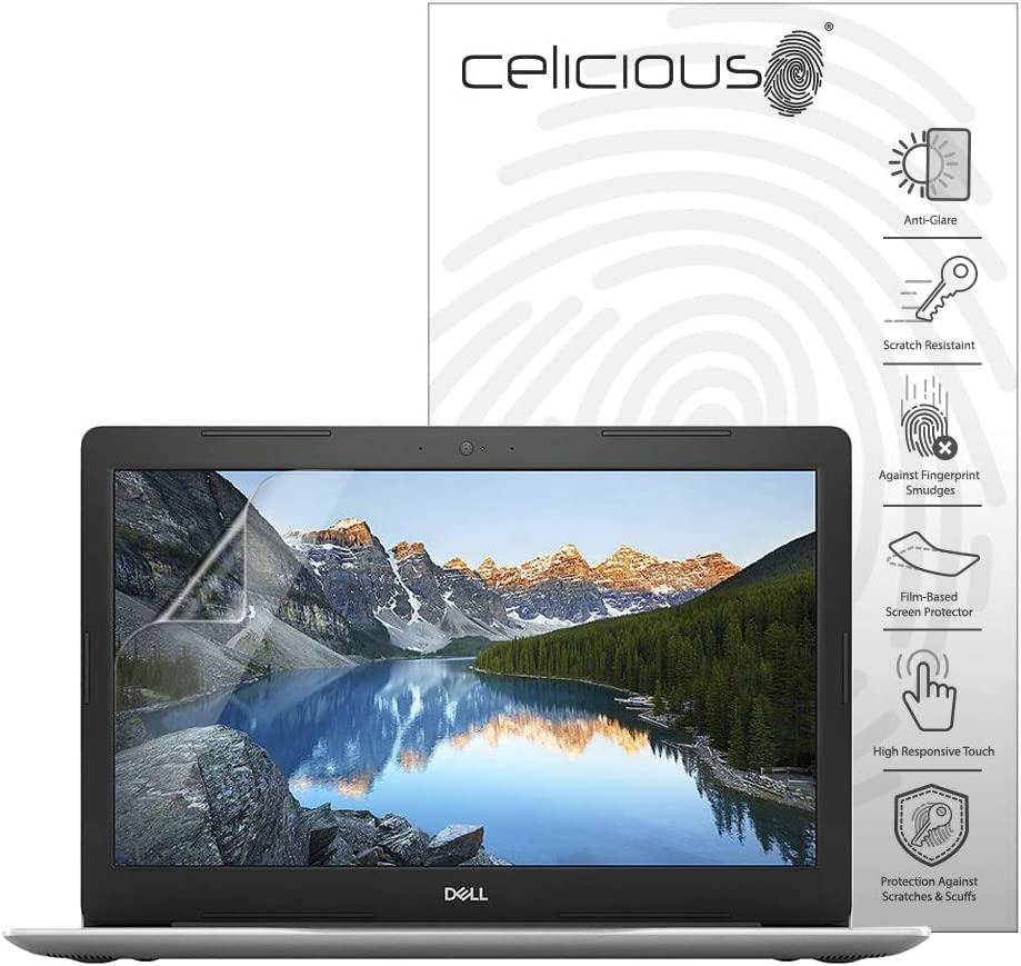 Pack of 2 Celicious Matte Anti-Glare Screen Protector Film Compatible with Dell Inspiron 15 5570 Touch