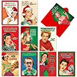 NobleWorks A1255 NAUGHTY IS NICE Assorted Hilarious Christmas Cards with 12 Envelopes (Box of 10 Designs, 1 Card per Design)