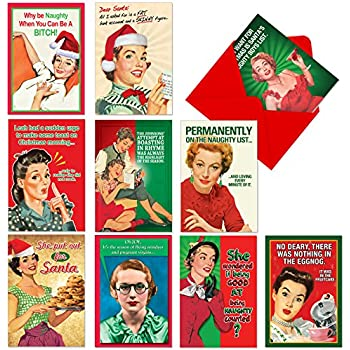 amazon com 10 funny christmas cards christmas humour greeting
