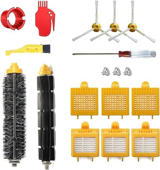 770,780 6PC 6 Arm armed Side Brush HEPA Filter for iRobot Roomba 700 series 760