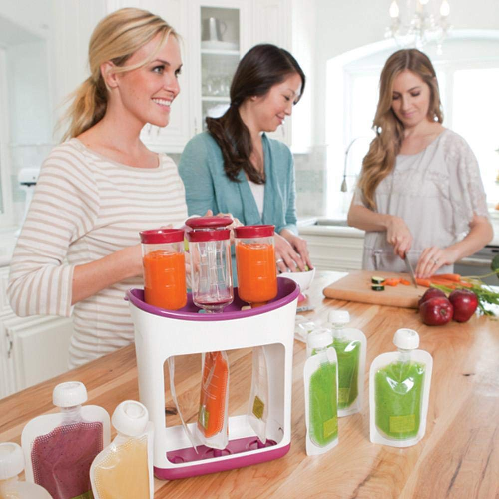 Squeeze Food Station Baby Food Maker Set Fruit Puree Packing Machine