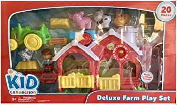 05af3eb4b4b Kid Connection Deluxe Farm Play Set with Music and Animal Sounds