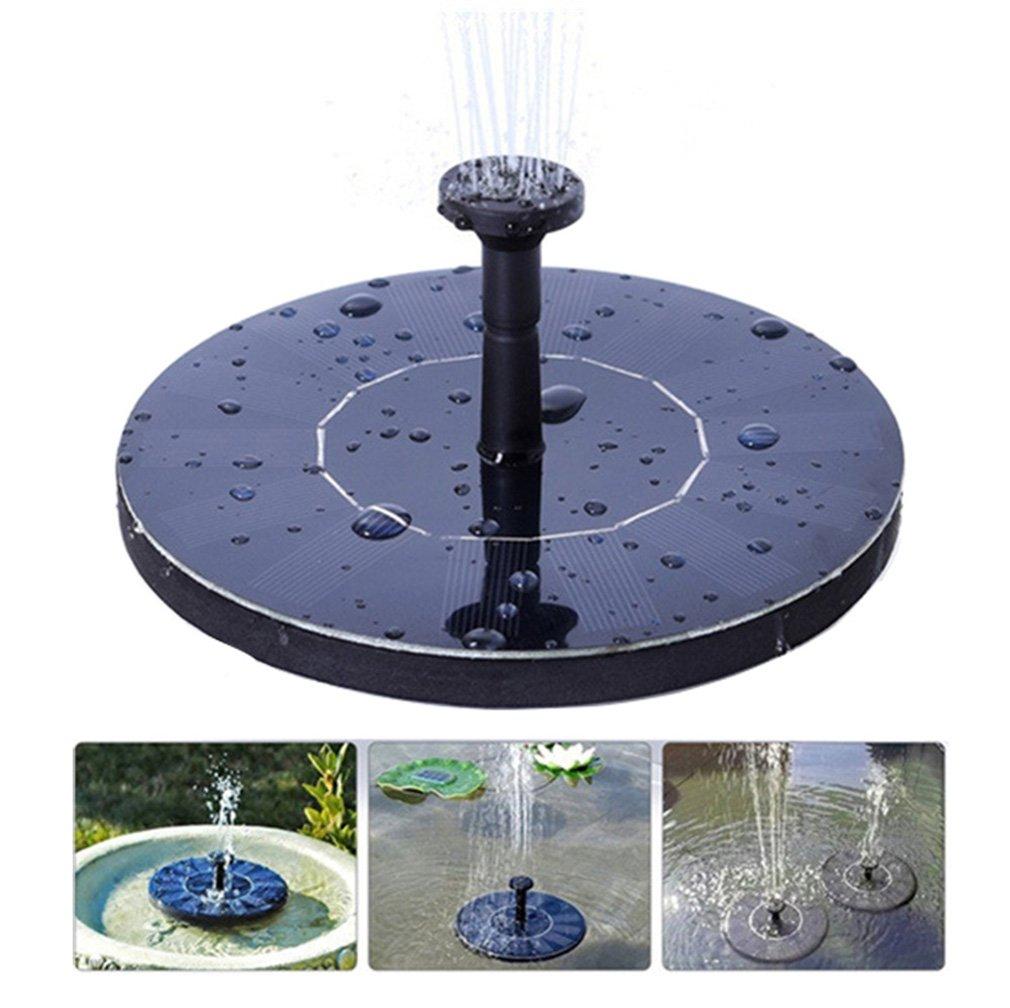 Jiistar Solar Fountain, 1.4W Solar Powered Bird Bath Fountain Pump Solar Panel Kit Water Pump,Outdoor Watering Submersible Pump for Pond, Pool, Garden, Fish Tank, Aquarium (black)