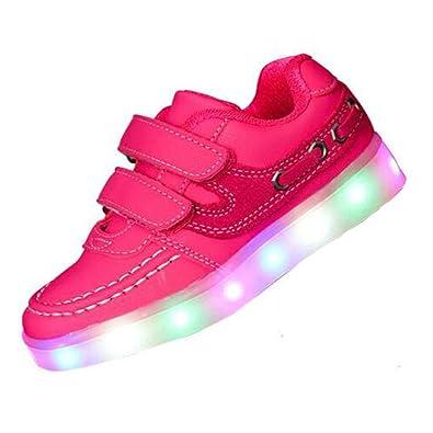 3STEAM Kinder, Jungen, Mädchen führte leuchten Trainer Sneakers Turnschuhe Sportschuhe blinken USB-Lade Schuhe (EU 28, blue)