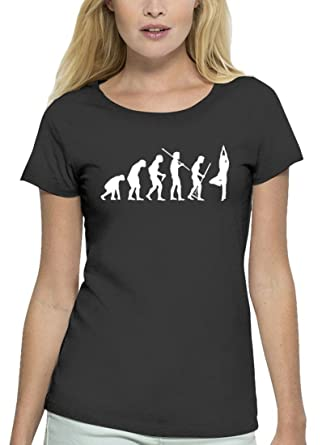 Yoga Premium Damen T-Shirt Aus Bio Baumwolle Evolution Yoga Marke Stanley  Stella: Amazon.de: Bekleidung
