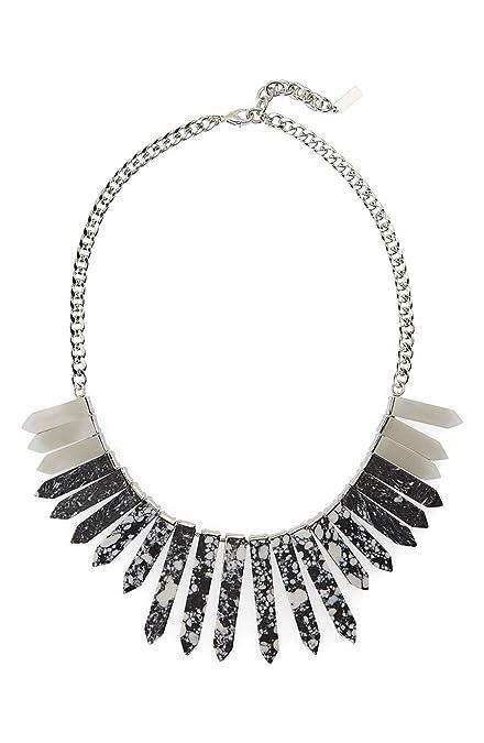 Baublebar Marble Ra Architectural Fringe Bib Necklace (Black