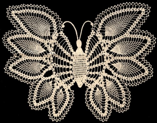 Vintage Crochet PATTERN to make - Pineapple Butterfly Doily, Mat, Wall Hanging. NOT a finished item. This is a pattern and/or instructions to make the item only. (Pattern Free Butterfly Crochet)