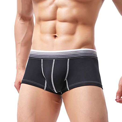 Back To Search Resultsunderwear & Sleepwears Mens Cotton Flat Underwear Sexy Solid Color U-convex Opening Design Male Underwear Trunk Pouch Boxer Men On Sale