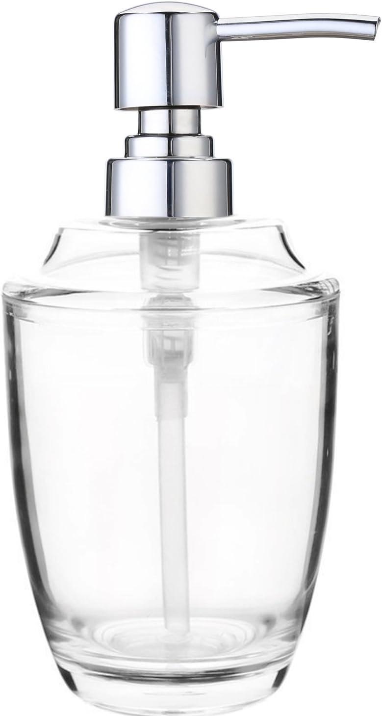 NPL Soap Dispenser Pump Bathroom Kitchen 12 Oz Clear Plastic Countertop Lotion Dispenser 350ML Liquid Bottle Hand Wash Pneumonia Disinfectant Kill Viruses