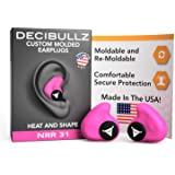 Decibullz - Custom Molded Earplugs, 31dB Highest NRR, Comfortable Hearing Protection for Shooting, Travel, Swimming…