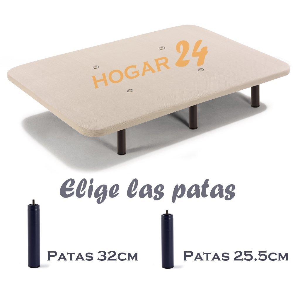 HOGAR24 ES Base Tapizada con Tejido 3D y Válvulas De Transpiración + 6 Patas de Metal De 32 cm, 105x200cm: Amazon.es: Juguetes y juegos