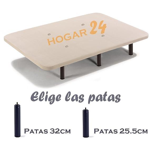 Base tapizada + 6 patas de metal con tejido 3D y válvulas de transpiración-90x200cm-Patas 26cm: Amazon.es: Hogar