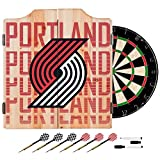 Trademark Gameroom NBA7010-PTB3 NBA Dart Cabinet Set with Darts & Board - City - Portland Trailblazers