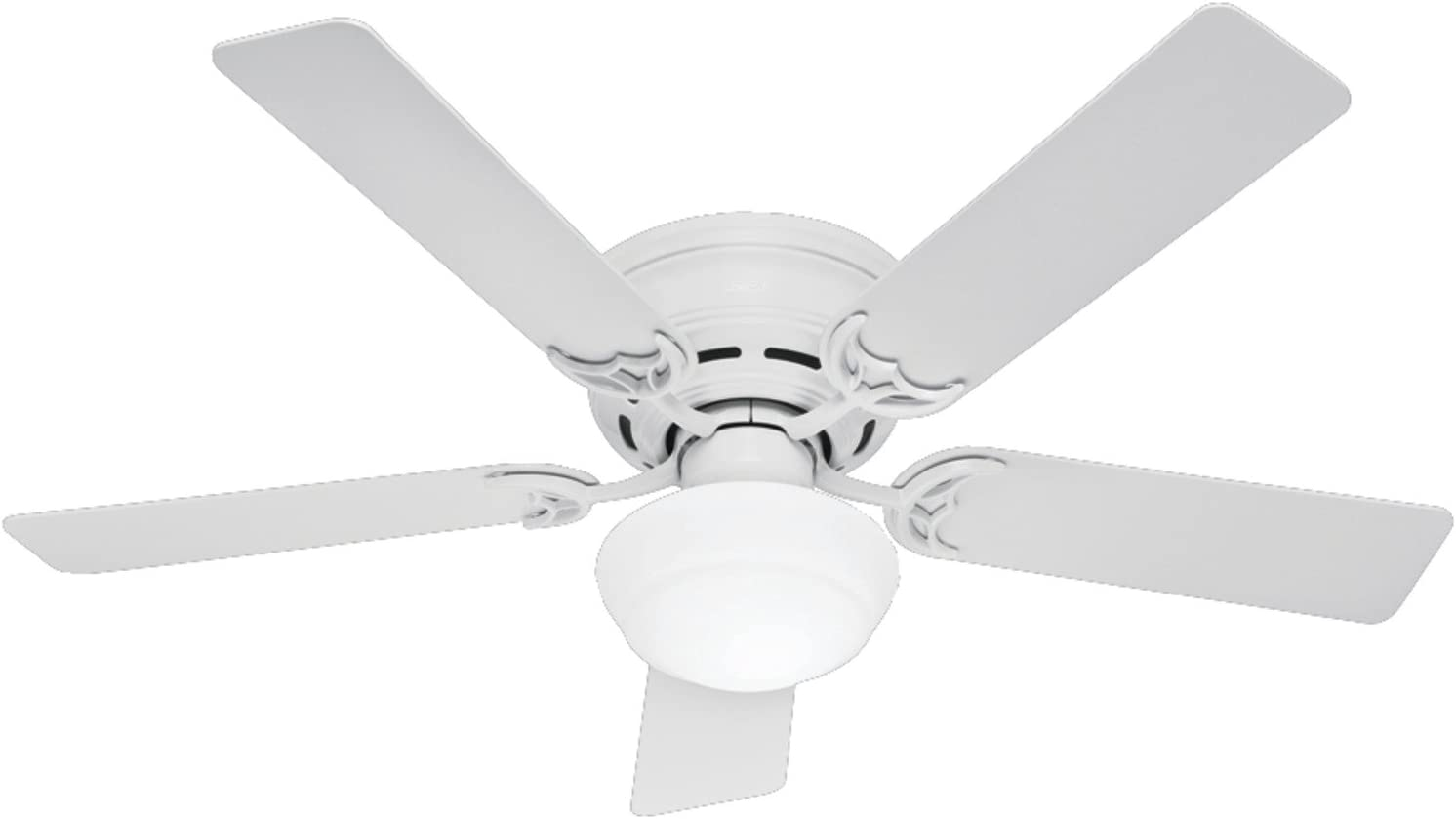 Hunter Fan Company Hunter 53075 Traditional 52``Ceiling Fan from Low Profile III collection in White finish