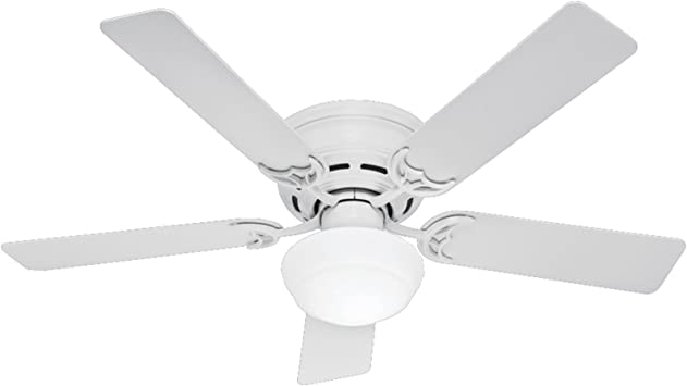 Amazon.com: Hunter Indoor Low Profile III Plus Ceiling Fan with Light and  Pull Chain Control: Home Improvement | White Low Profile 42 Ceiling Fan Wiring Diagram Model |  | Amazon.com