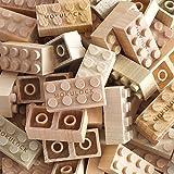 Mokulock Wooden Building Blocks, 24 Pieces