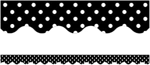 Teacher Created Resources Border Trim, Black Mini Polka Dots (4671)