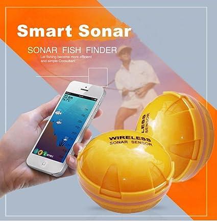 Amazon Com Fish Finder Smart Sonar Portable Wireless Smartphone