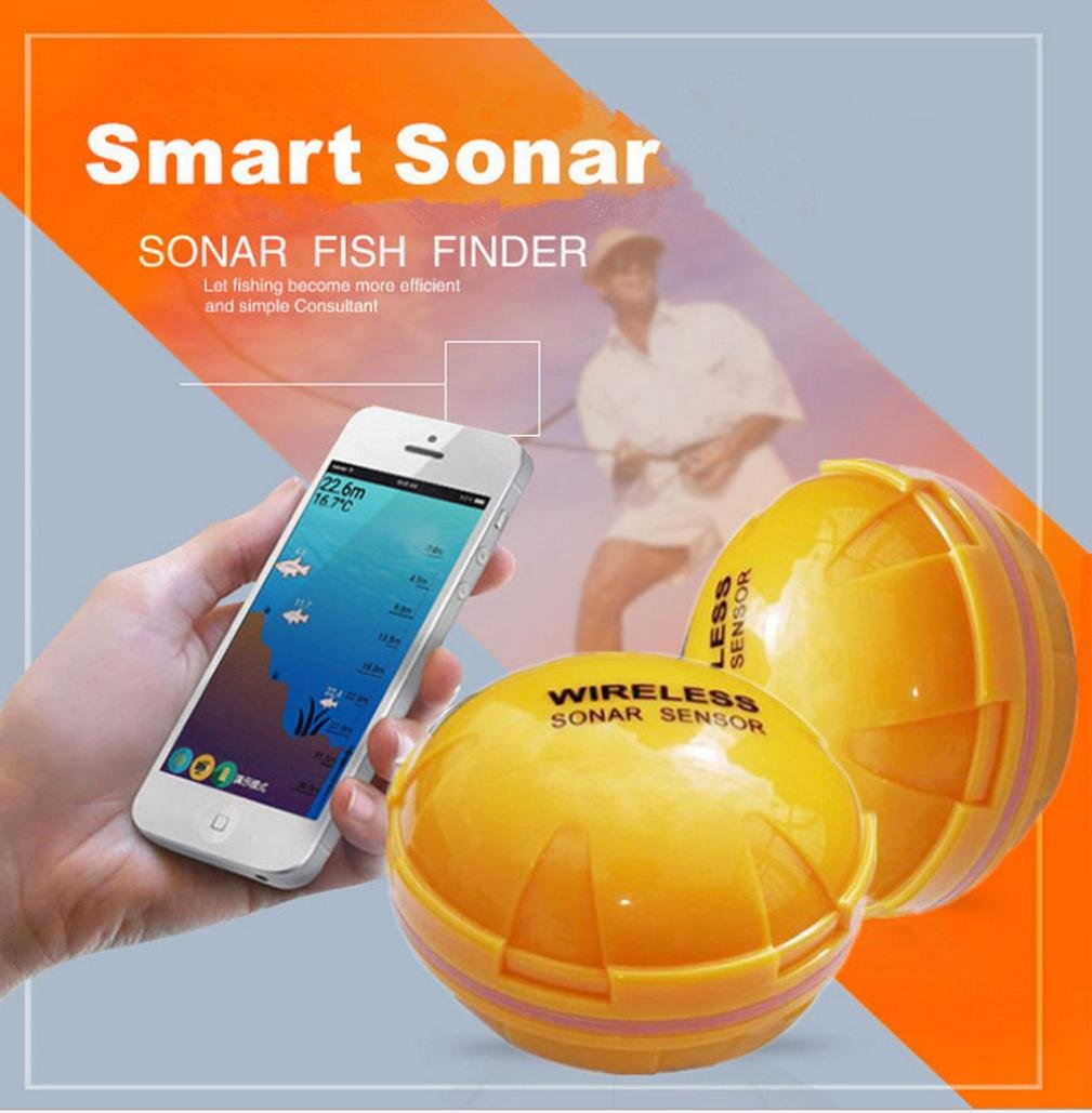 Fish Finder Smart Sonar - Portable Wireless Smartphone Fish Finder for Shore and Ice Fishing