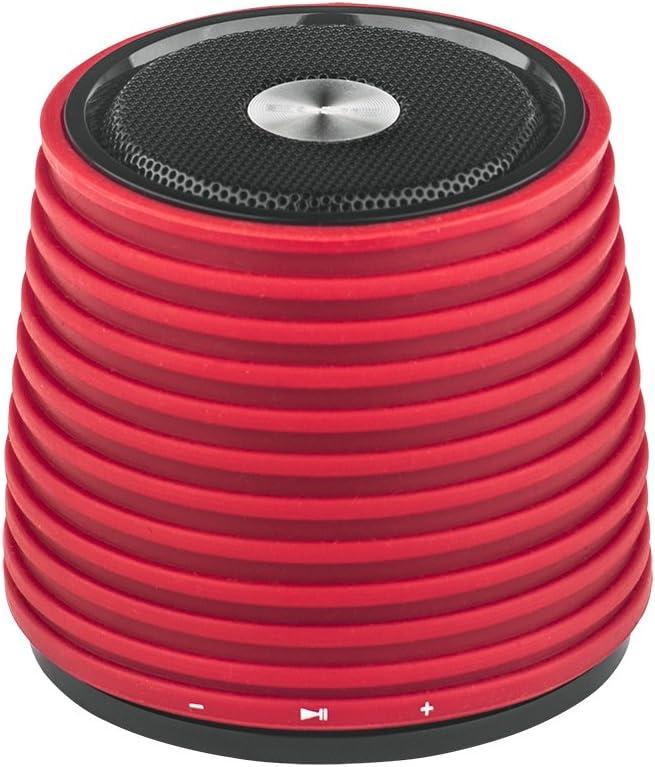 Elbe ALT-116-BT - Mini altavoz Bluetooth (2 W, 3 h de reproducción) color rojo