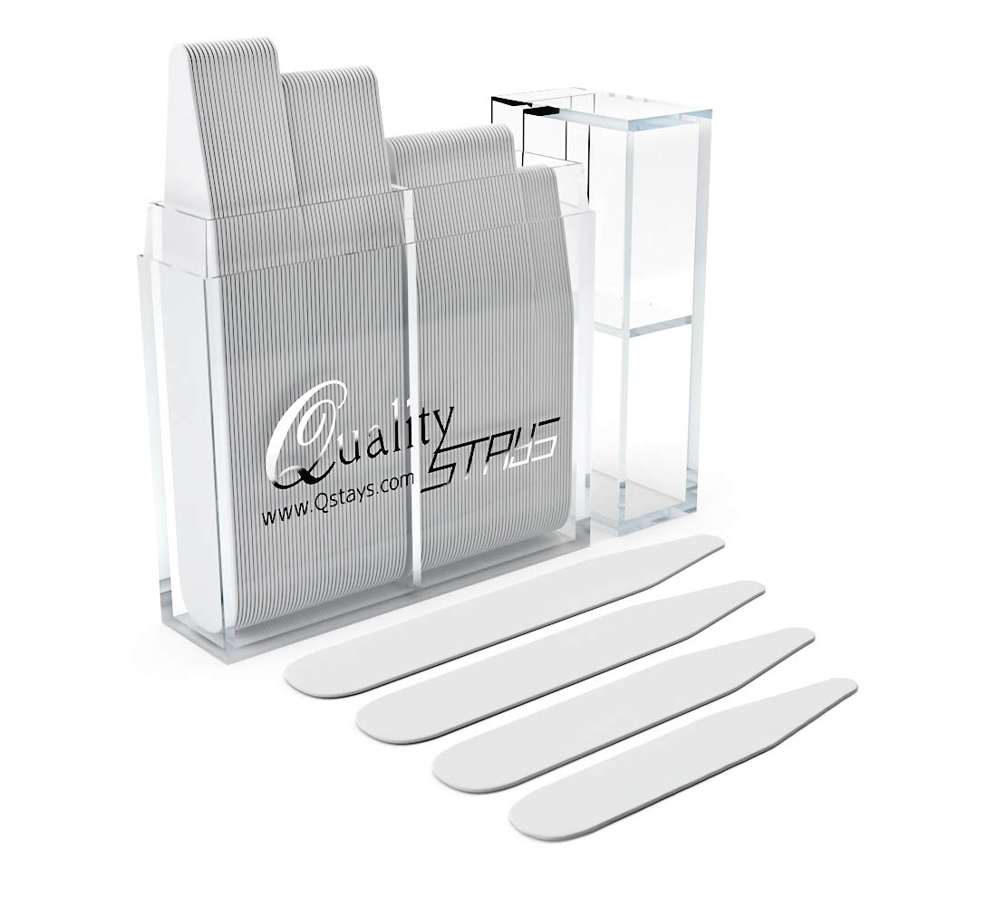 60 Plastic Collar Stays Variety Pack, 4 Sizes