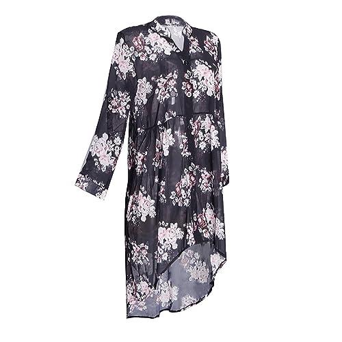 Sharplace Camisa de Tallas Grandes Ropa Suave Confortable Mujer Cuello En V con Mangas Larga Blusa F...