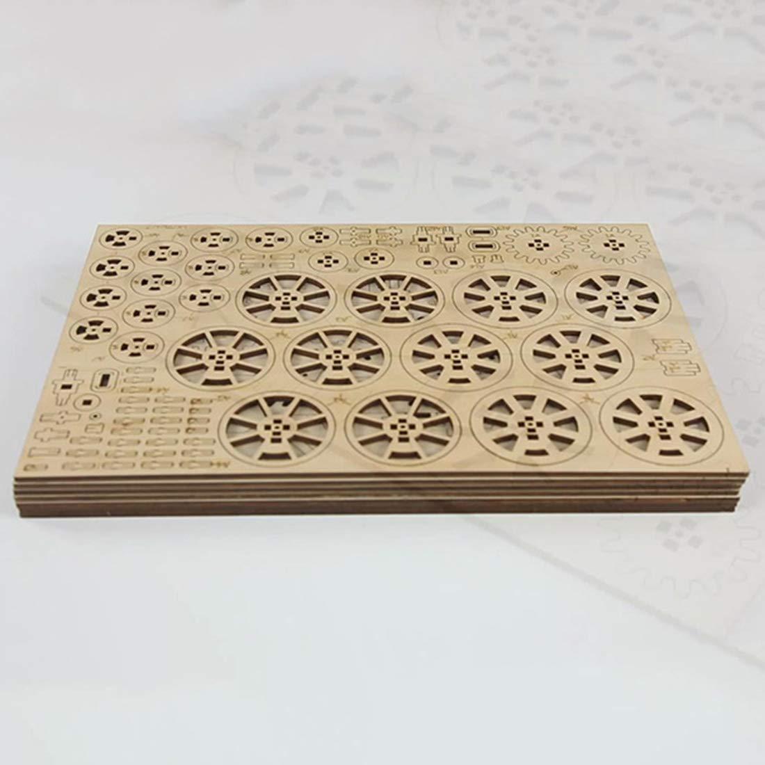 HYZH 3D DIY Puzzle Spiel Spiel Spiel Holzpuzzle Mechanische Zahnräder Stem Spielzeug für Wohnkultur bc8d17