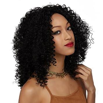 Amazon Com Wtb Hair Short Afro Kinky Wig Curly Cheap Black