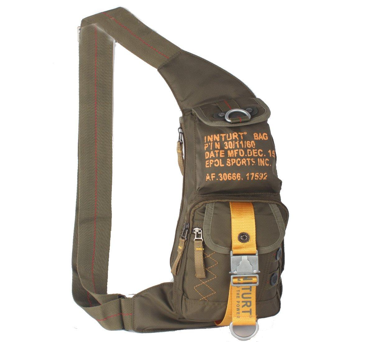 Amazon.com : Kawei Knight Nylon Sling Chest Bag Multi-pocket ...