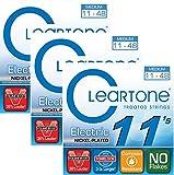 #7: Cleartone 9411 Medium Electric Guitar Strings 11-48 3-Pack w/Bonus RIS Picks (x3) 786136094112