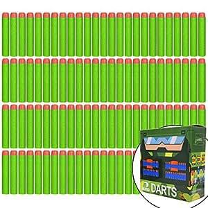 EKIND 100pcs 7.2 cm espuma dardos para Nerf N-strike Elite serie Blaster pistola de juguete (Verde)