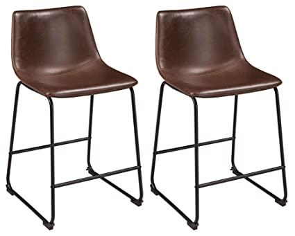 Merveilleux Ashley Furniture Signature Design   Centiar Counter Height Barstool   Set  Of 2   Mid Century