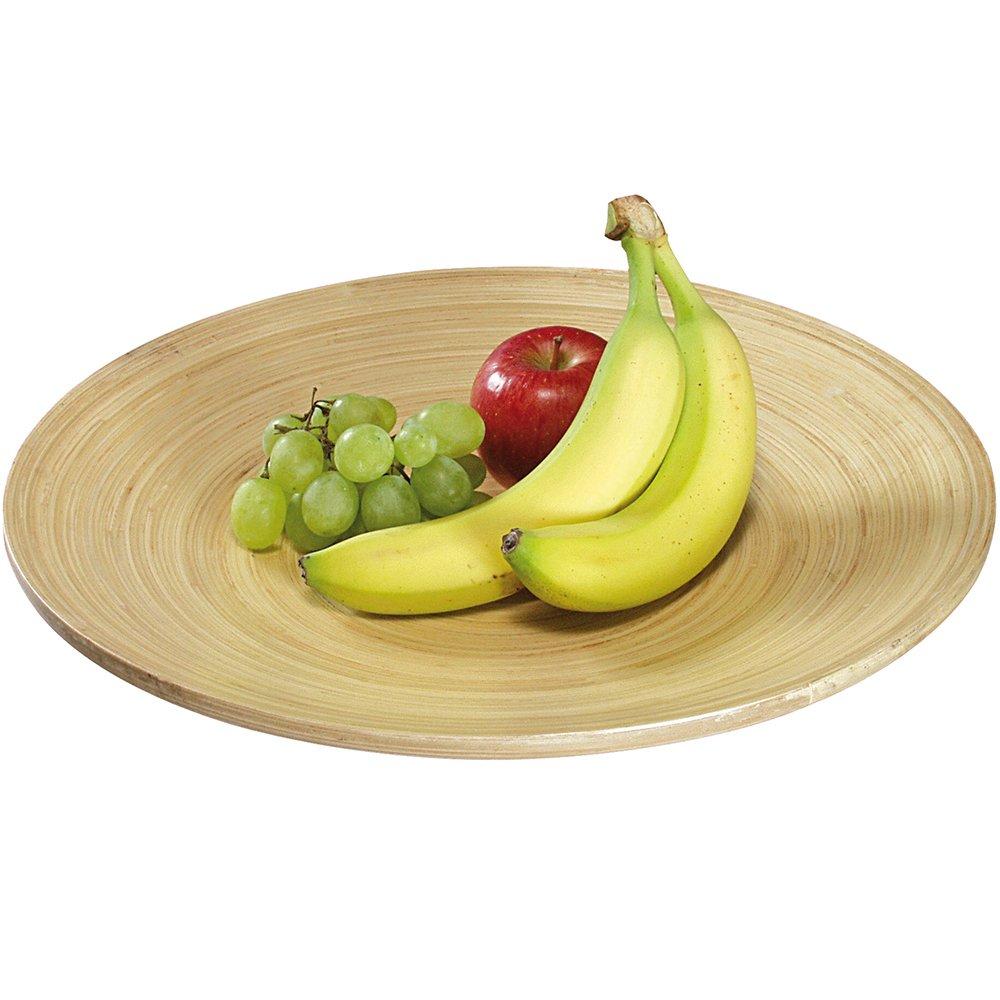 Kesper 63035 de Frutas/Bandeja de 35 cm de Madera de bambú de Colour Claro