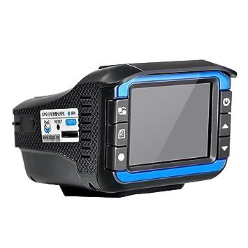 maistore 2 en 1 coche DVR Dash Cam Video Radar Detector de velocidad visión nocturna detección de radar pantalla LCD de 2 pulgadas HD 720P Support 32 G TF: ...