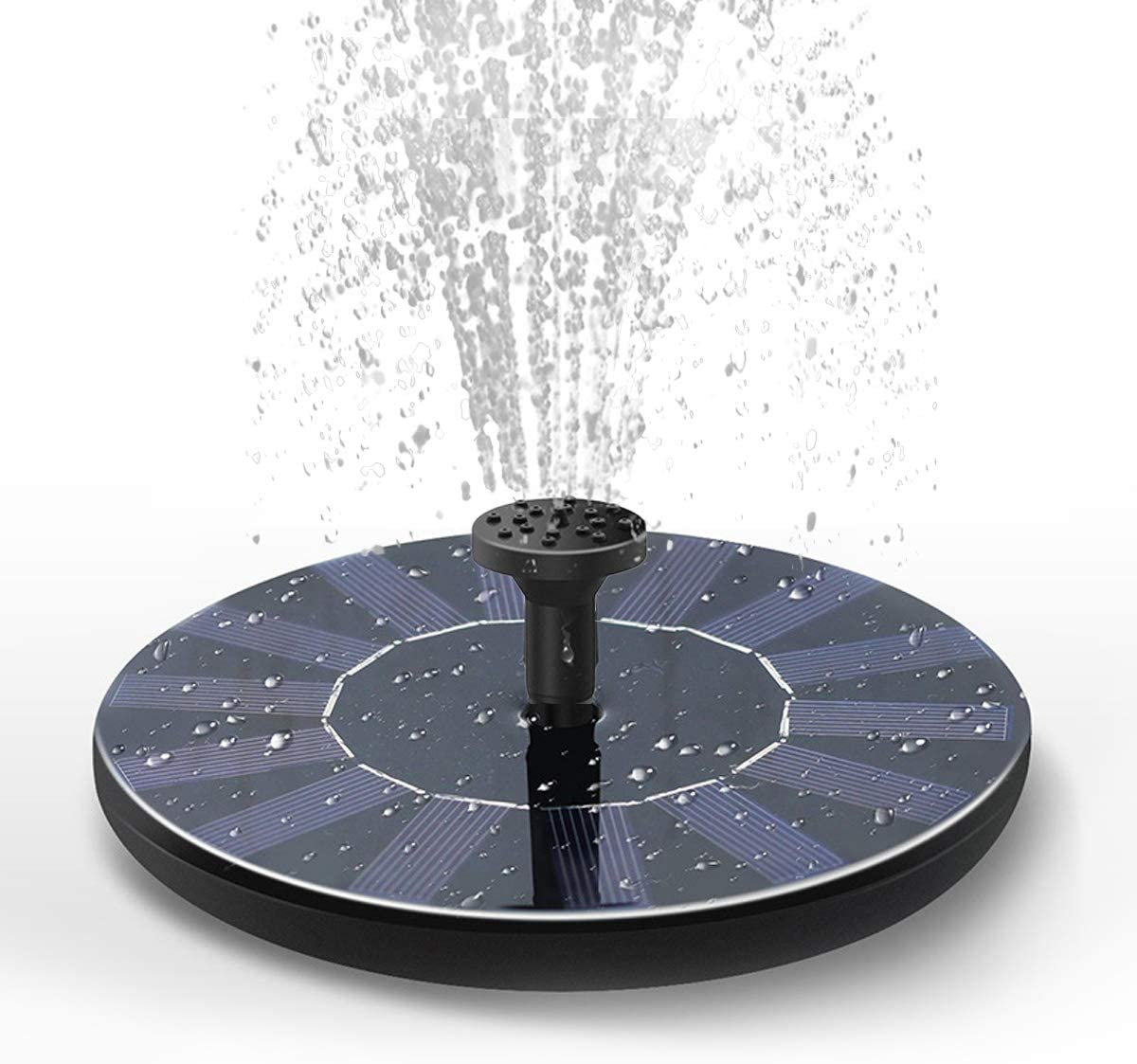 DDcafor Solar Fountain Water Pump for Bird Bath, New Upgraded Mini Solar Powered Fountain Pump 1.5W Free Standing Solar Panel Kit Water Fountain for Garden, Pond, Pool, and Outdoor