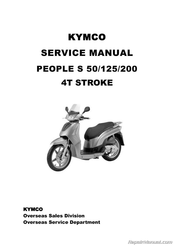 kymco people 50 scooter workshop manual repair manual service manual download