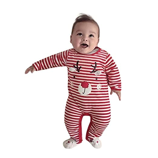 59a888f6e1e2 Amazon.com  Vicbovo Adorable Baby Boy Girl Long Sleeve Christmas ...