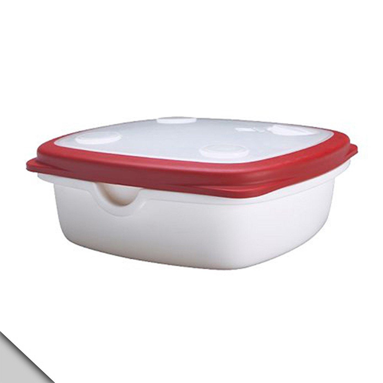 IKEA 365+ Dose Mit Deckel; In Weiß/rot; (17x17x6cm): Amazon.de: Küche U0026  Haushalt