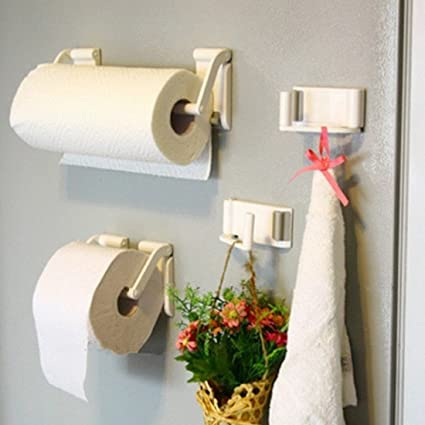 f3c6d52a462 Image Unavailable. Image not available for. Color  QIXINSTAR Magnetic paper  towel oleophilic roll holder Towel Rack for Refrigerator Bathroom  Accessories