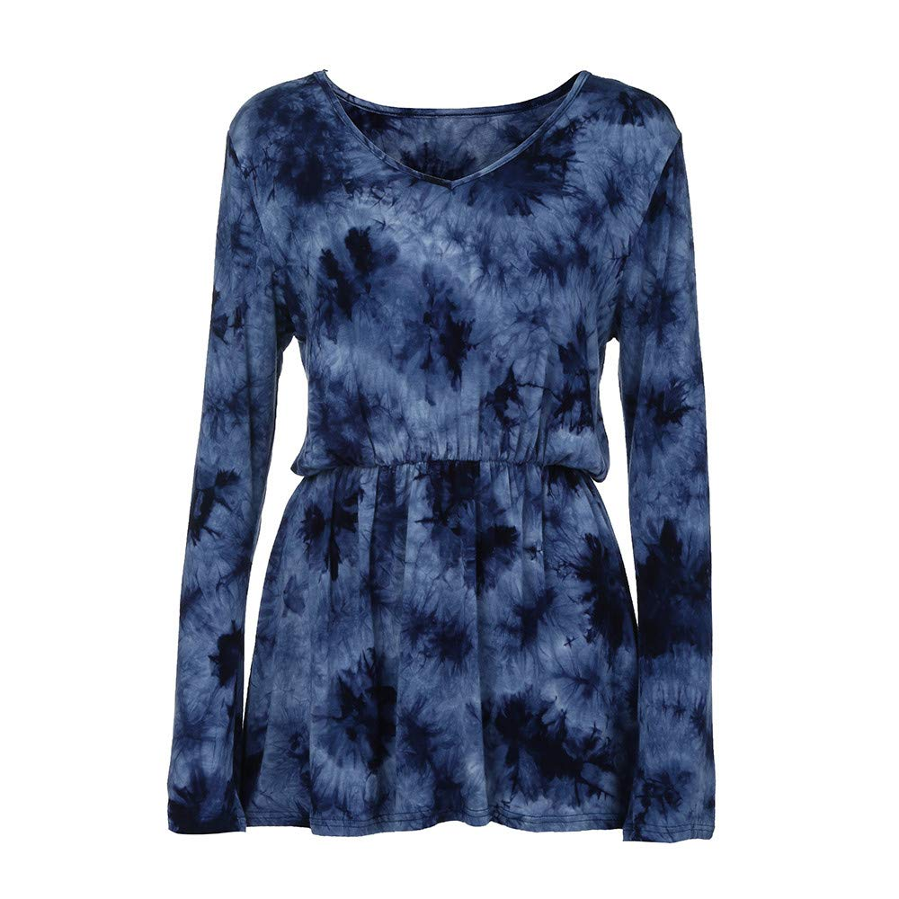 Clearence!!!Sonnena Fashion Womens Casual Floral Print Shirts 3/4 Sleeves O-Neck Tunic Blouse Tops Three Quarter Printed O-Neck Tops Shirts