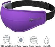 DREAMLIGHT Ease Lite 3D Sleep Mask Silk for Women and Men, 100% Light Blocking Eye Mask Blinders for Sleeping,Dark Circles,P